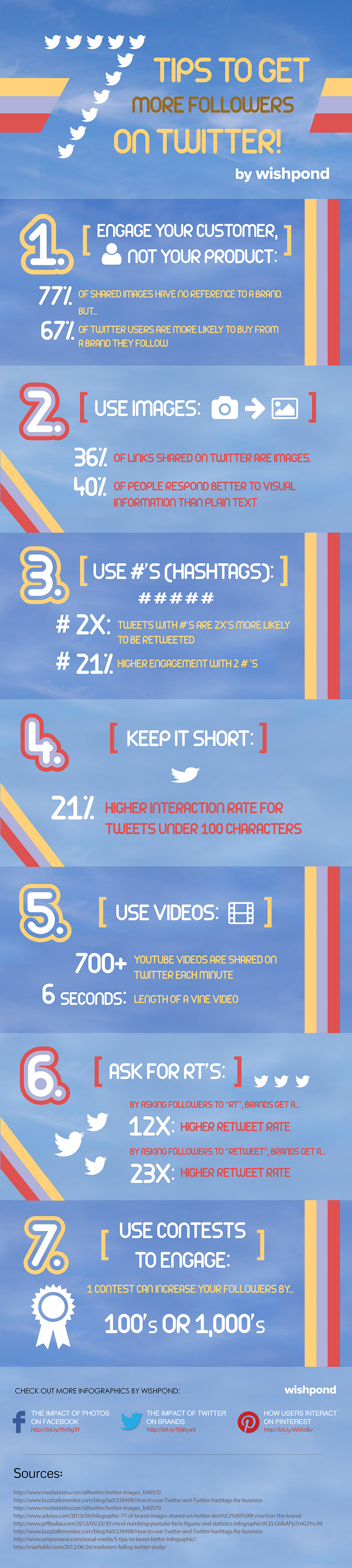 7 tips to get more followers on Twitter infographic
