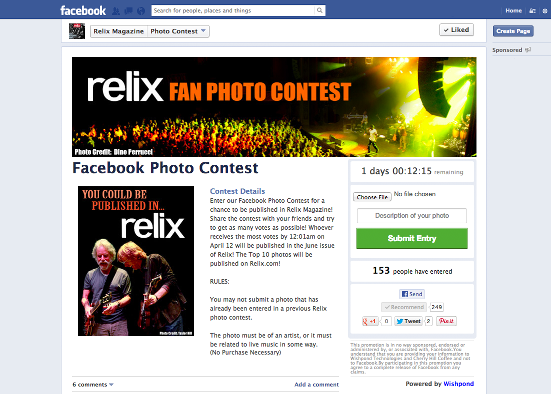 How to create a contest on facebook
