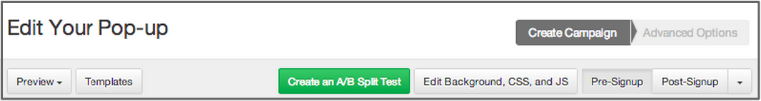 A/B test your website popups