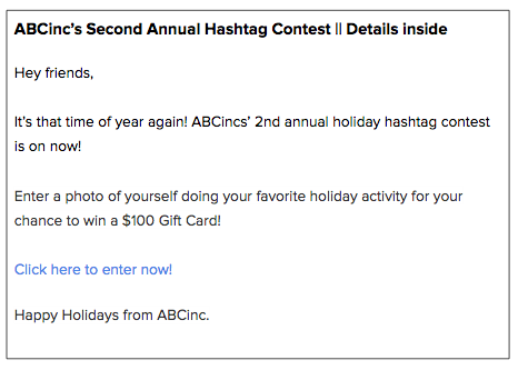 How To Run A Holiday Hashtag Contest On Instagram