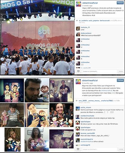 Seguidores no Instagram - SBT