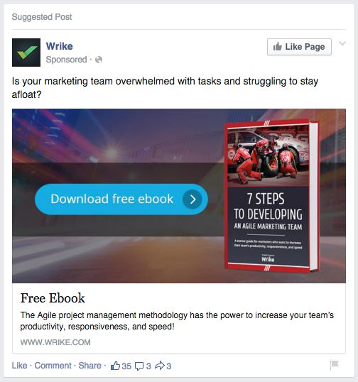 Promote ebook on Facebook