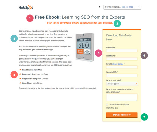 Ebook Landing Page Example: Hubspot