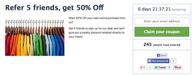 landing pages generate leads with referral coupons