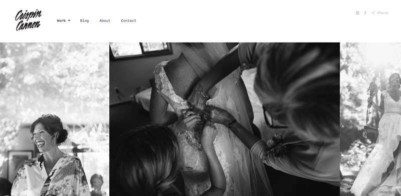 photographer landing page