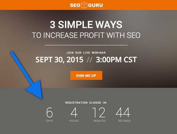countdown-timer-webinar-landing-page