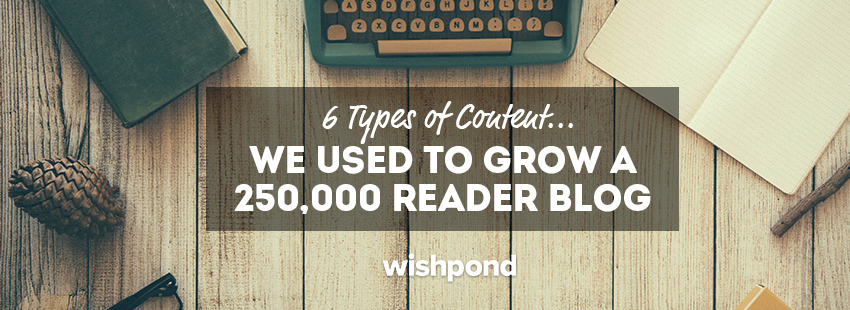 6 Types of Content We Used to Grow a 250,000 Reader Blog