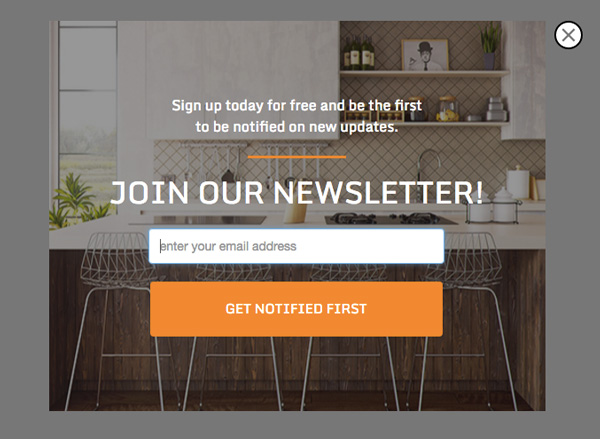 Wordpress newsletter popup